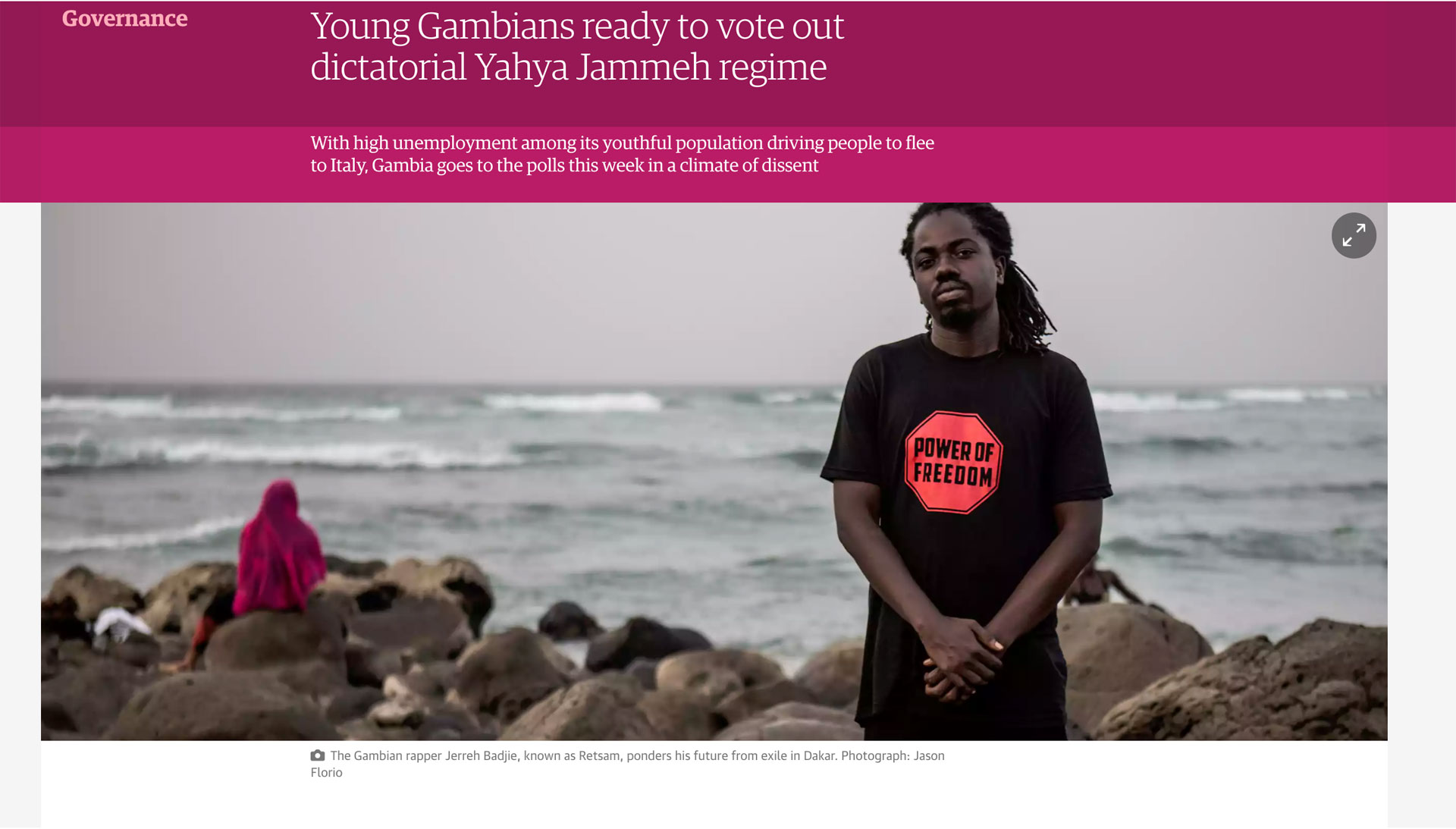 Press - Gambia goes to the elections, The Guardian - image © Jason Florio