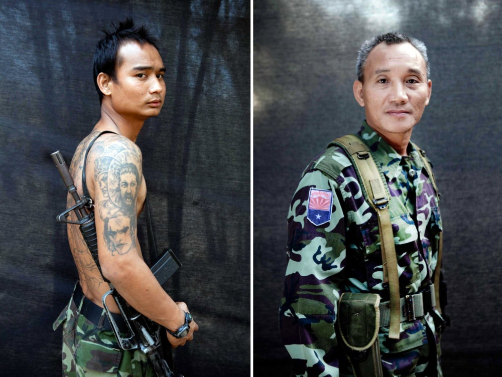 Karen National Liberation Army freedom fighters, Burma © Jason Florio